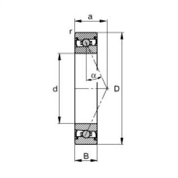 roulements HCS7020-E-T-P4S FAG