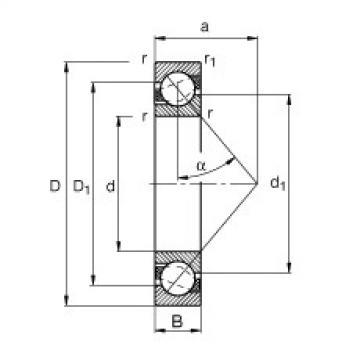 roulements 7308-B-JP FAG