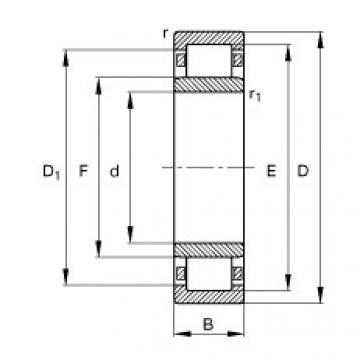 roulements NU1010-M1 FAG