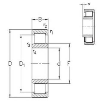 roulements NU2219-E-M6 NKE