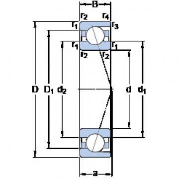roulements 71908 ACD/HCP4A SKF