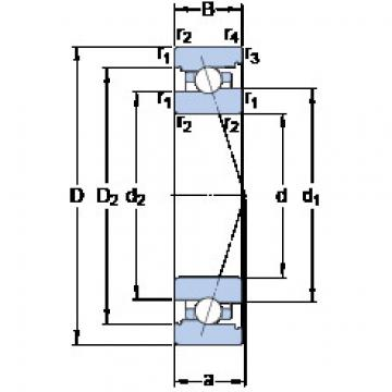 roulements 71910 ACB/P4A SKF