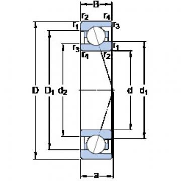roulements 71908 ACE/HCP4A SKF