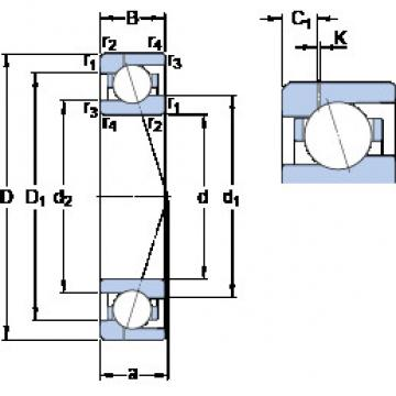 roulements 71908 CE/HCP4AH1 SKF