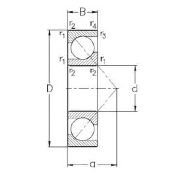 roulements 7308-BECB-MP NKE