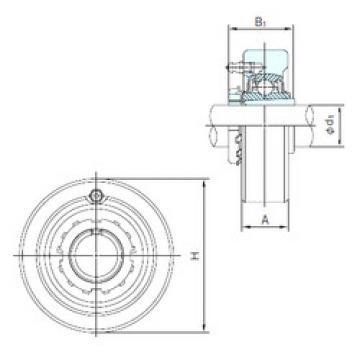 roulements UKC308+H2308 NACHI