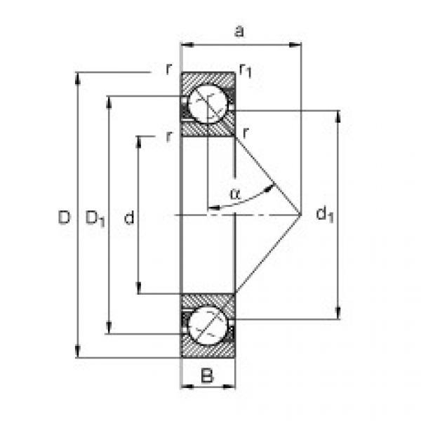 roulements 7309-B-JP FAG #1 image